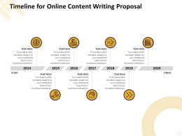 Timeline For Online Content Writing Proposal Ppt Powerpoint Presentation Deck
