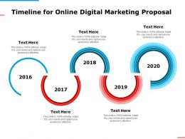 Timeline For Online Digital Marketing Proposal Ppt Powerpoint Presentation Visual Aids Slides
