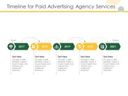 Timeline For Paid Advertising Agency Services Ppt Powerpoint Presentation Show