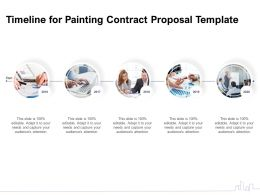 Timeline For Painting Contract Proposal Template Ppt Powerpoint Presentation Images