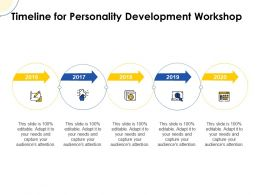 Timeline For Personality Development Workshop Ppt Powerpoint Slides Ideas