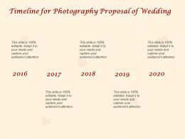 Timeline For Photography Proposal Of Wedding Ppt Powerpoint Presentation Gallery
