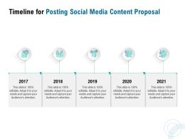 Timeline For Posting Social Media Content Proposal Ppt Powerpoint Presentation Gallery