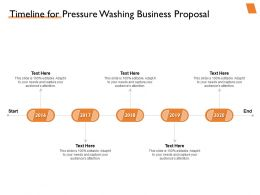Timeline For Pressure Washing Business Proposal Ppt Powerpoint Presentation Outfit