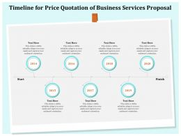 Timeline For Price Quotation Of Business Services Proposal Ppt Icon