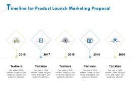 Timeline For Product Launch Marketing Proposal Ppt File Example Introduction
