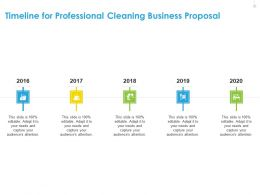 Timeline For Professional Cleaning Business Proposal Ppt Gallery