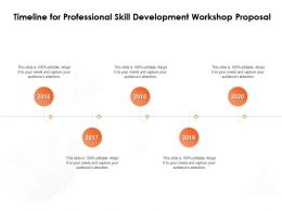 Timeline For Professional Skill Development Workshop Proposal 2016 To 2020 Years Ppt Layouts