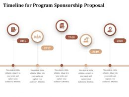 Timeline For Program Sponsorship Proposal Ppt Powerpoint Presentation Layouts Clipart