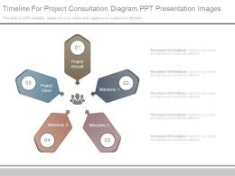 Timeline For Project Consultation Diagram Ppt Presentation Images