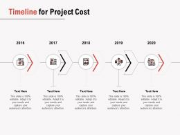 Timeline For Project Cost Ppt Powerpoint Presentation Infographics Slide Download