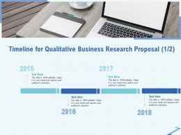 Timeline For Qualitative Business Research Proposal R311 Ppt Gallery