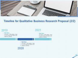 Timeline For Qualitative Business Research Proposal R312 Ppt File Formats