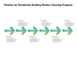 Timeline For Residential Building Window Cleaning Proposal Ppt Slides Format