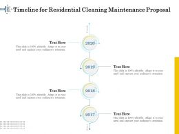Timeline For Residential Cleaning Maintenance Proposal Ppt File Display