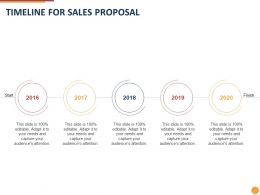 Timeline For Sales Proposal Ppt Powerpoint Presentation Styles Images