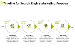 Timeline For Search Engine Marketing Proposal Ppt Powerpoint Presentation Summary
