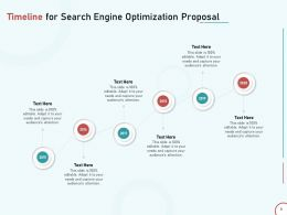 Timeline For Search Engine Optimization Proposal Ppt Powerpoint Presentation Deck