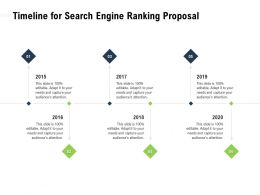 Timeline For Search Engine Ranking Proposal 2015 To 2020 Years Ppt Powerpoint Presentation Diagrams