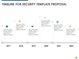 Timeline For Security Template Proposal Ppt Powerpoint Presentation Portfolio Graphics Design