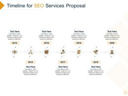 Timeline For SEO Services Proposal Ppt Powerpoint Presentation Layouts Mockup