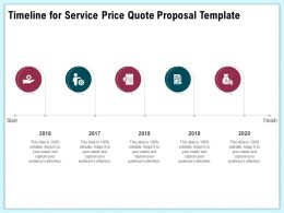 Timeline For Service Price Quote Proposal Template Ppt Infographics