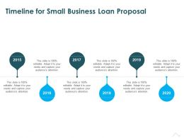 Timeline For Small Business Loan Proposal Ppt Powerpoint Presentation Templates