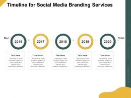 Timeline For Social Media Branding Services Ppt Powerpoint Presentation Graphic