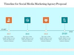 Timeline For Social Media Marketing Agency Proposal Ppt Powerpoint Presentation Professional