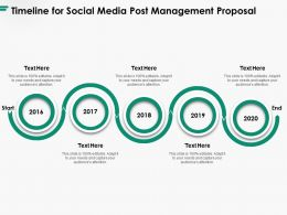 Timeline For Social Media Post Management Proposal Ppt Powerpoint Presentation Ideas Diagrams