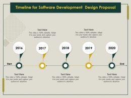 Timeline For Software Development Design Proposal Ppt File Format Ideas
