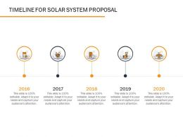 Timeline For Solar System Proposal Ppt Powerpoint Presentation Infographic Template Infographic
