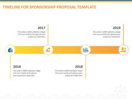 Timeline For Sponsorship Proposal Template Ppt Powerpoint Presentation Professional