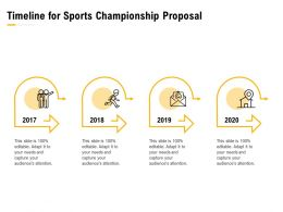 Timeline For Sports Championship Proposal Ppt Powerpoint Presentation Examples