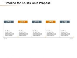 Timeline For Sports Club Proposal Ppt Powerpoint Presentation Summary Gridlines