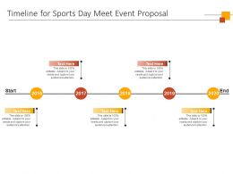 Timeline For Sports Day Meet Event Proposal Ppt Powerpoint Presentation Infographics