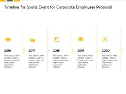 Timeline For Sports Event For Corporate Employees Proposal Ppt Slide Show