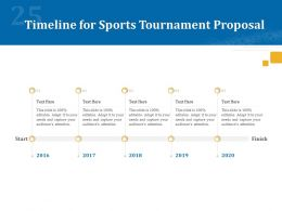 Timeline For Sports Tournament Proposal Ppt Powerpoint Presentation Icon Show