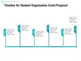 Timeline For Student Organization Event Proposal Ppt Template