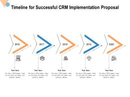 Timeline For Successful CRM Implementation Proposal Ppt Powerpoint Presentation File