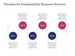 Timeline For Sustainability Business Services Ppt Powerpoint Presentation Ideas Design