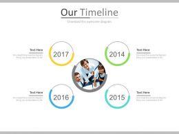 Timeline For Team Business Target Achievement Powerpoint Slides
