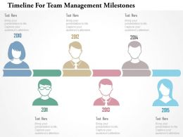 Timeline For Team Management Milestones Flat Powerpoint Design