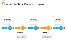 Timeline For Tour Package Proposal Ppt Powerpoint Presentation Gallery Portrait
