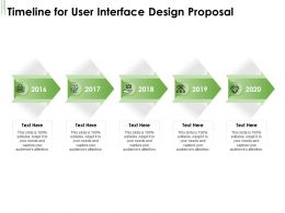Timeline For User Interface Design Proposal Ppt Powerpoint Presentation Gallery Display