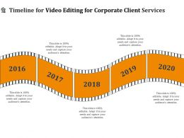 Timeline For Video Editing For Corporate Client Services Ppt Ideas
