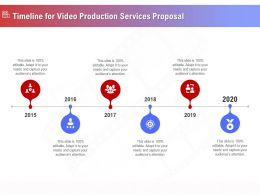 Timeline For Video Production Services Proposal Ppt Template