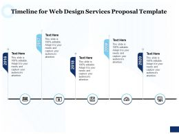 Timeline For Web Design Services Proposal Template Ppt Powerpoint Good
