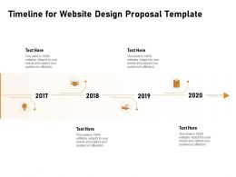 Timeline For Website Design Proposal Template Ppt Powerpoint Professional