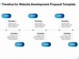 Timeline For Website Development Proposal Template Ppt Powerpoint Presentation Summary
